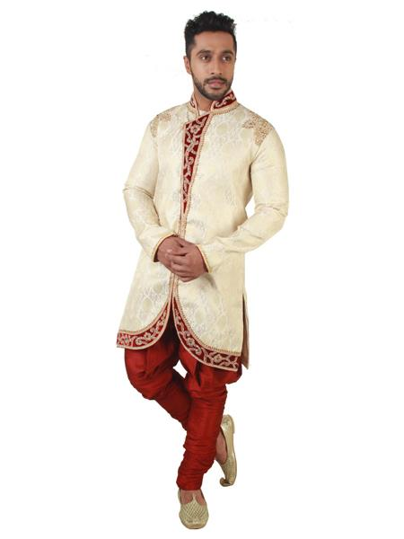 Swarnam  4016 Golden  Mens Ethnic Wear