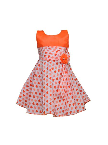 Soft Touch S14003 Orange Girl Dress