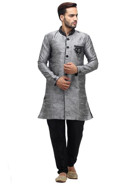 Swarnam 3030 Grey  Mens Ethnic Wear