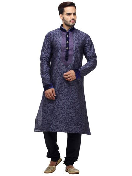 Swarnam 2077 Purple  Mens Ethnic Wear