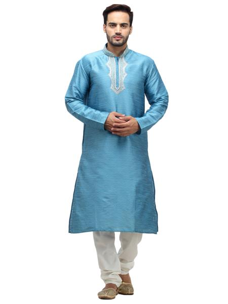Swarnam 1006 Blue   Mens Ethnic Wear