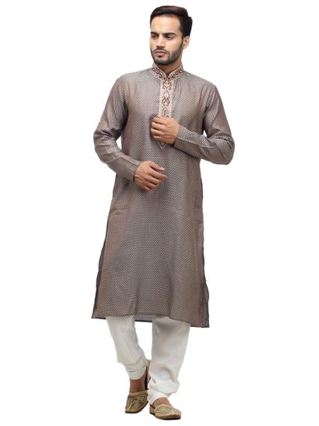 Swarnam 1004 Grey  Mens Ethnic Wear