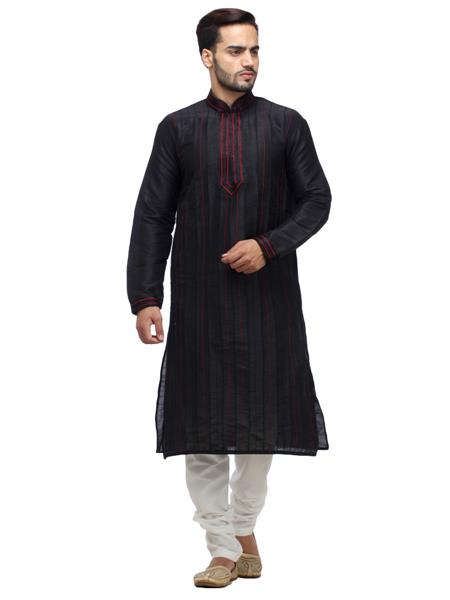 Swarnam 2043  Black  Mens Ethnic Wear