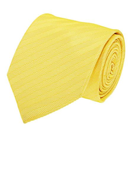 Tosiddos  MFST 337 Yellow Mens Necktie