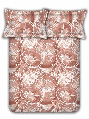 Raymond Home 001622-Bf02 Orange Double  Bedsheet With Pillow Cover