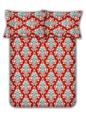 Raymond Home 001631-Bf01 Red Double  Bedsheet With Pillow Cover
