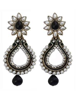 Shreya Collection 10027-3 Black-White Women Earring