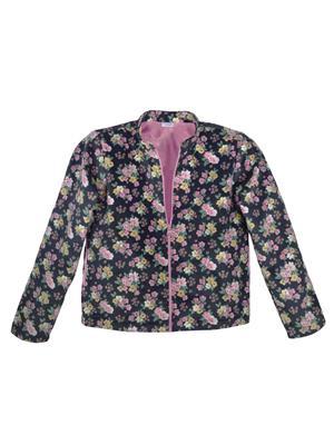 caca cina 1016-1 Multicolored Girl Jacket