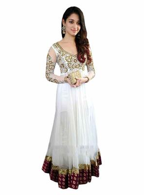 Ethnic Culture 1019 White Women Gown