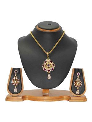 Soni Art Jewellery 101 Green & Purple  Women  Jewellery Set