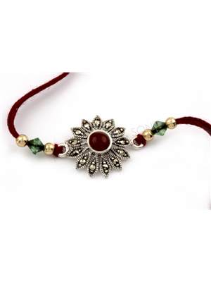 Gupta 1021 Brown Silk Rakhi