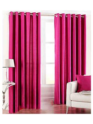 SAI ARPAN 1022-DARKPINK-7-1 Pink Door Curtain