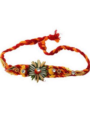 Gupta 1029 Multicolored Silk Rakhi