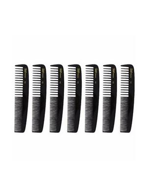 Roots 103212 Black Hair Comb Set Of 7