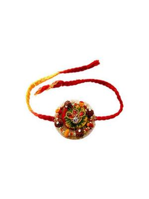 Gupta 1035 Multicolored Silk Rakhi