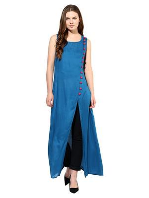 Raindrops 1043F004G Peacock Blue Women Tunic