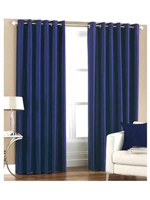 SAI ARPAN 1054-1-BLUE-9FT Blue Long Door Curtain