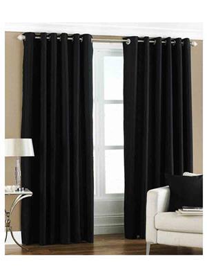 SAI ARPAN 1055-1-BLACK-7FT Black Door Curtain