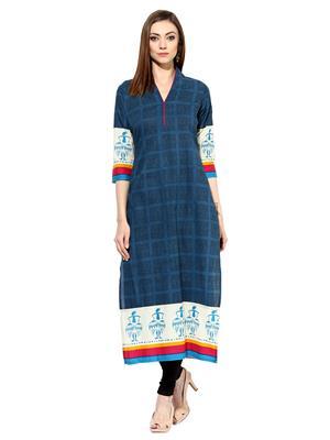 Raindrops 1062D006B Blue Women Top