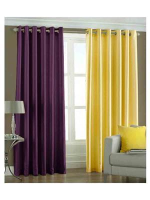 SAI ARPAN 1076-PY-7FT Multicolor Door Curtain