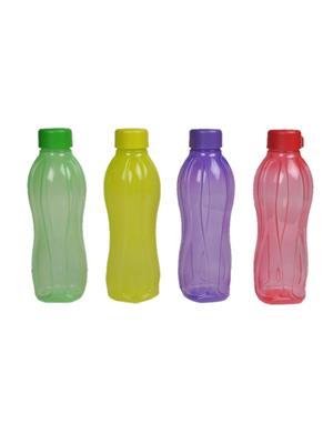 Tupperware 113 Multicolored water bottles 1 litre set of 4