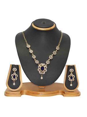 Soni Art Jewellery 114 Blue  Women  Jewellery Set
