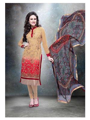 Ethnic Culture 1179-26457 Brown Women Straight Salwar Suit