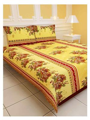 Sai Arpans 1188  Beautiful Double Bedsheet with Pillow Covers