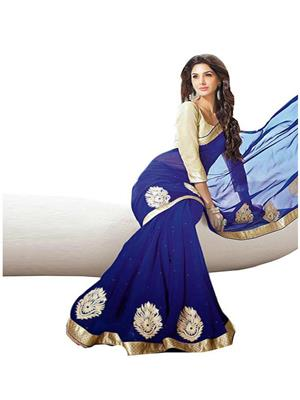 Satya Sita 120 Blue Women Saree
