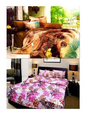 Sai Arpans 121-1411  Double Bedsheet  Combo (Set of 2)
