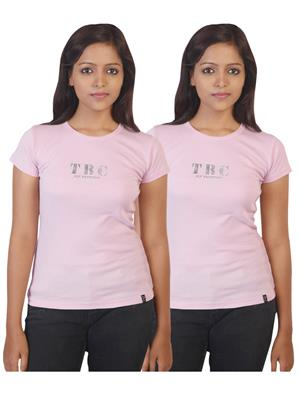 Twin Birds 1212-4 Pink Women T-Shirts Pack of 2
