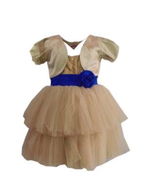 Jungste 1222 Gold Girl Dress