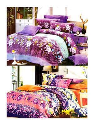 Sai Arpans 123-125  Double Bedsheet  Combo (Set of 2)