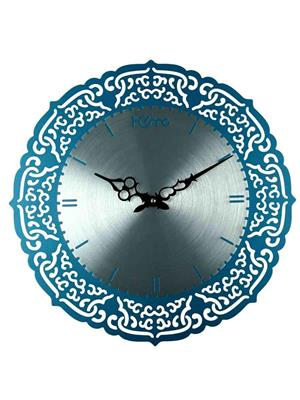 ApolloTime BLUE & WHITE-B  Blue Wall Clock