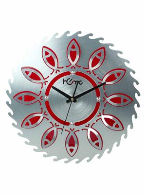 ApolloTime FISH-R  Red Wall Clock