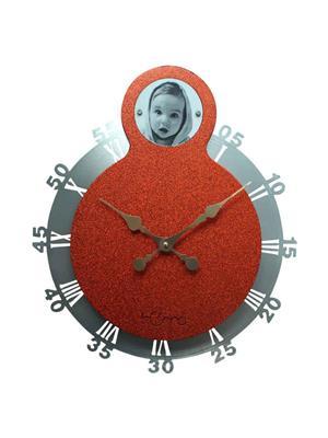 ApolloTime SWINGING CLOCK  Orange Wall Clock