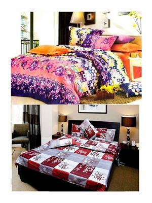 Sai Arpans 125-D6  Double Bedsheet  Combo (Set of 2)