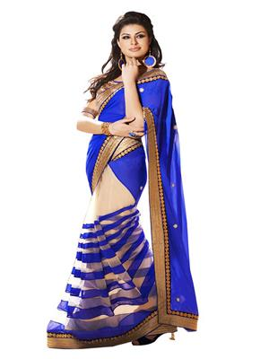 Satya Sita 126 Blue Women Saree