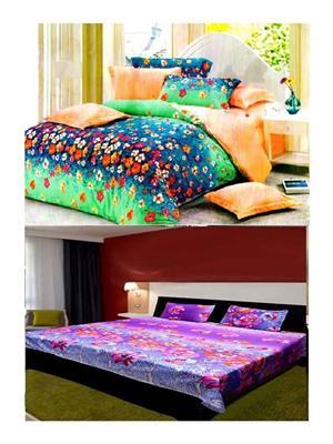 Sai Arpans 127-138  Double Bedsheet  Combo (Set of 2)
