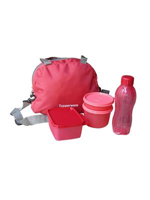 Tupperware 128 Red lunch box fo Girl