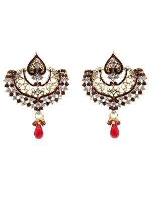 kriaa 1300322 Maroon Women Earrings