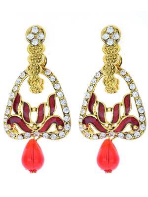 kriaa 1306222 Maroon Women Earrings
