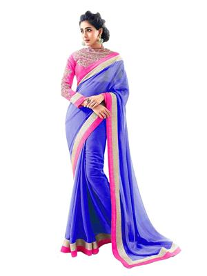 Satya Sita 130 Blue Women Saree