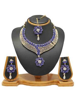 Soni Art Jewellery 130 Blue  Women  Jewellery Set