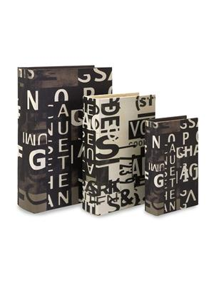 Interior Passion 13128-3 Book Boxes - Set of 3