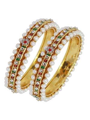 Soni Art Jewellery 131 White Women Bangles