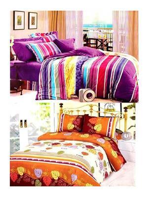 Sai Arpans 132-1187  Double Bedsheet  Combo (Set of 2)