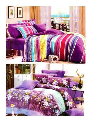 Sai Arpans 132-123  Double Bedsheet  Combo (Set of 2)