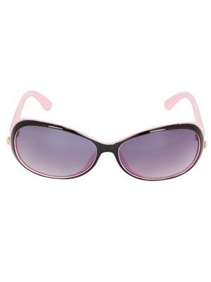 Adine  1334-Black-Pink Aviator Sunglasses