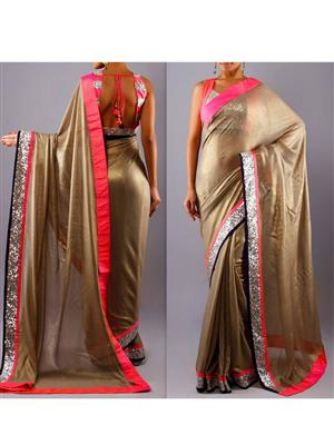 Sri Trendz Golden Beauty Saree